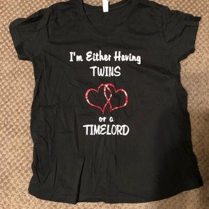 Women's large maternity twin shirts Dr who